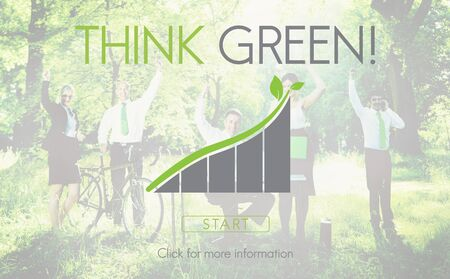 think green: Think Green Business Environment Ecology Concept