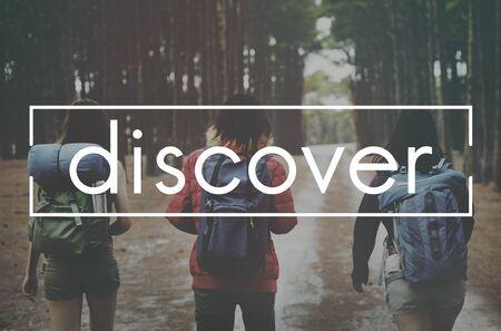 discover: Discover Excursion Exploration Travel Trek Trip Concept
