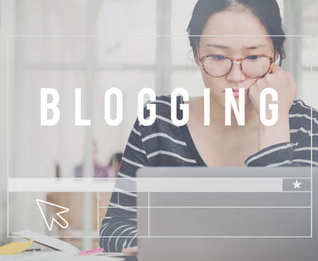 opinion: Blogging Social Media Network Online Opinion Concept