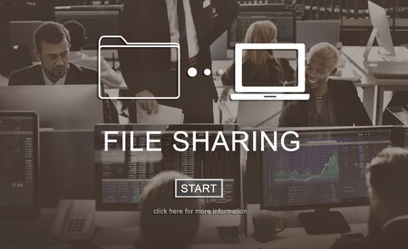 file sharing: File Sharing Internet Technology Social Storage Concept