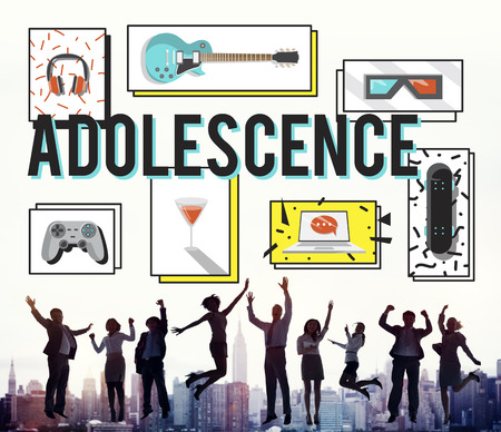 adolescence: Adolescence Young Adult Youth Culture Lifestyle Concept