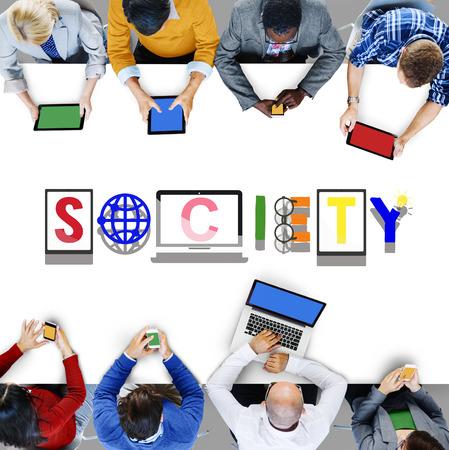 citizen: Society Connection Global Community Unity Citizen Concept Stock Photo
