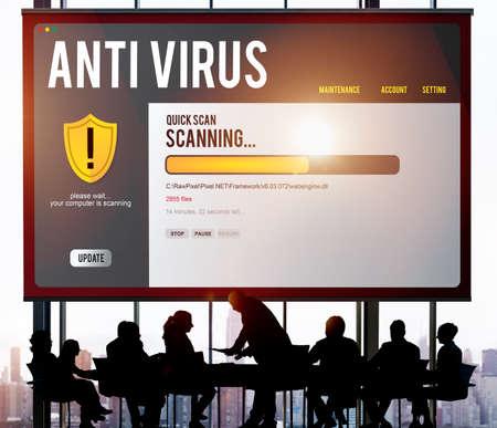 Antivirus Alert Firewall Hacker Protection Safety Concept