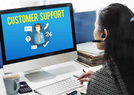 contact center: Customer Support Contact Center Advice Concept