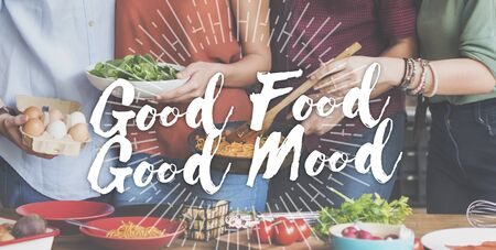 Good Food Good Mood Gourmet Küche Gastronomie Kulinarisches Konzept