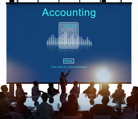 computation: Accounting Finance Calculate Computation Concept Stock Photo
