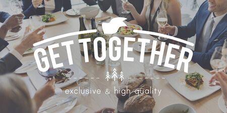 get together: Get Together Family Teamwork Support Friendship Concept
