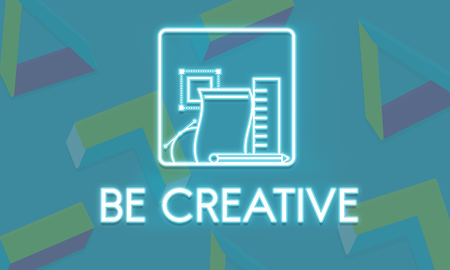 creativeness: Be Creative Design Ideas Imagine Invention Style Concept