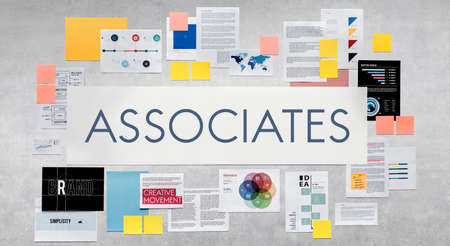 associates: Associates Connection Corporate Teamwork Assistance Association Concept