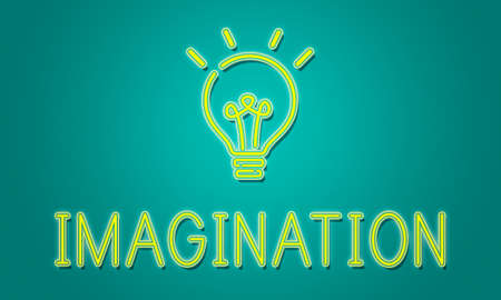 to be: Be Creative New Imagination Innovation Graphic Concept Stock Photo