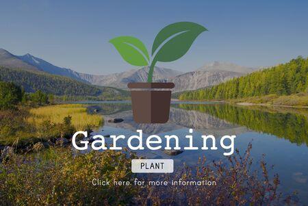 Go Green Gardning Conservation Environmental Concept Stock Photo