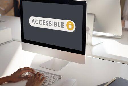 verification: Accessible Permission Verification Security Concept Stock Photo