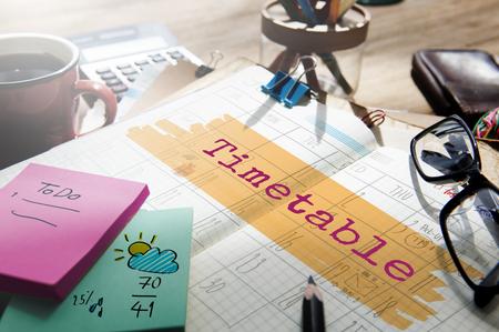 Tijdschema Agenda Planner Reminder Kalender To Do Concept
