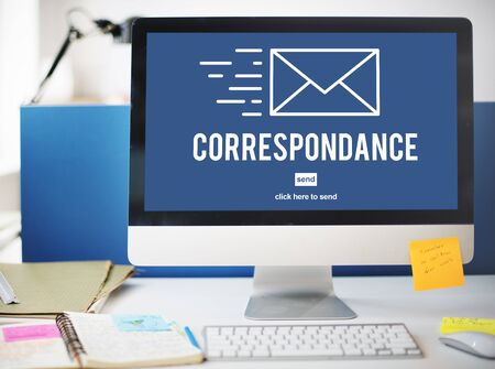 communications tools: Correspondence E-mail Connection Online Messaging Concept