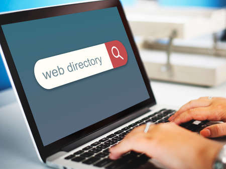 web browser: Web Directory Search Engine Browser Find Concept Stock Photo