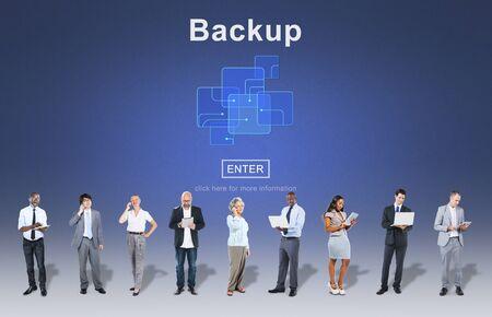 restore: Backup Data Storage Database Restore Safety Security Concept