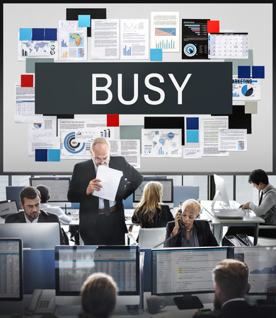 hectic: Busy Overload Working Hardworking Concept