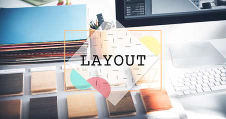 editing: Layout Blueprint Design Editing Printing Art Concept
