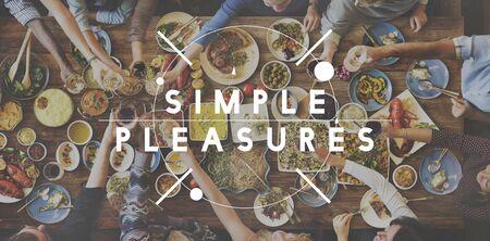 simple meal: Tasty Yammy Simple Pleasure Food Meal Concept