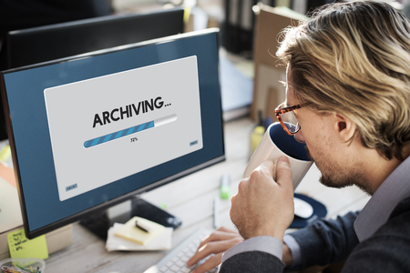 Connection Data Streaming Download Archiving Concept Imagens - 61729513