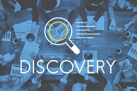 Descubrimiento de Resultados de Investigación Concepto del conocimiento Foto de archivo
