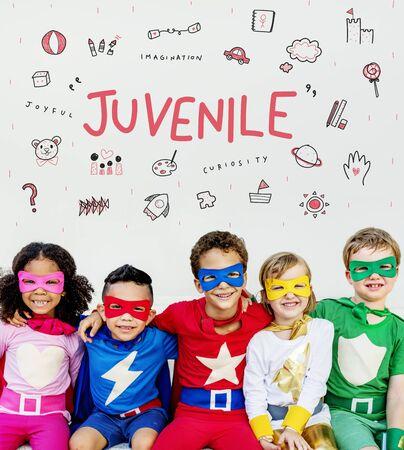 Imagine Kids Freedom Education Icon Conept Stock Photo