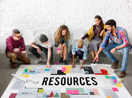 context: Resources Context Material Management Career Concept Stock Photo