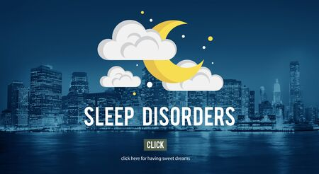 sleep disorder: Sleep Disorder Disturbed Insomnia Depression Concept