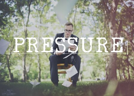 forest management: Pressure Anxiety Force Intimidation Stress Concept