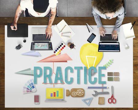 method: Practice Method Observe Operation Perform Utilize Concept Stock Photo
