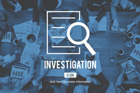 investigation: Investigation Results Research Discovery Concept Stock Photo
