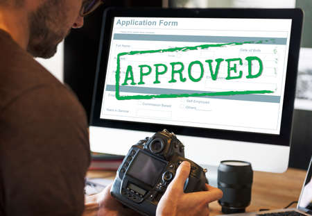 Approved Allowed Approval Application Form Concept Stock Photo