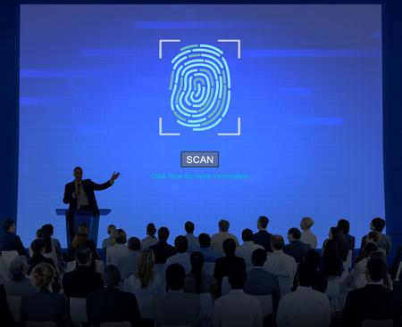 La biométrica de la huella digital Identificar Autorización Concept