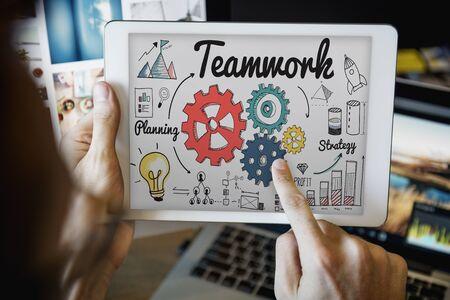 coordination: Teamwork Coordination creative Information Concept Stock Photo