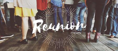 meetup: Reunion Support Community Teamwork Together Concept