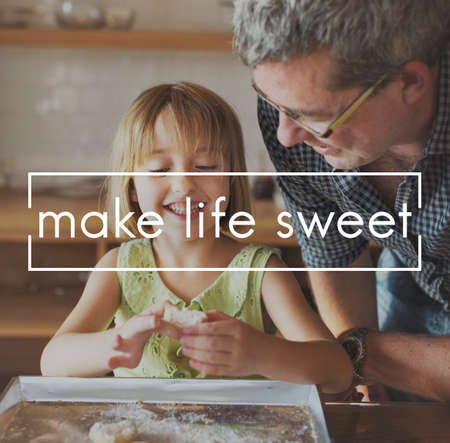 grand daughter: Life Sweet Living Mind Nature Healthy Simply Concept