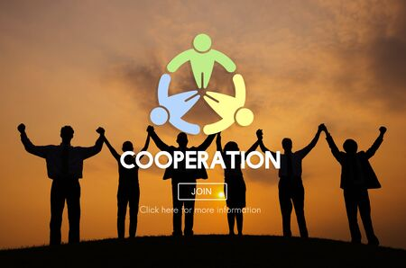 association: Cooperation Cooperate Collaboration Teamwork Concept Stock Photo