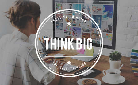Think Big Faith Optimistic Inspiration Ideas Concept