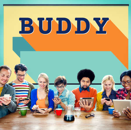 buddy: Buddy Friends Together Connection Companionship Concept Stock Photo