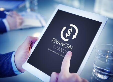 banco mundial: Financial Trade Economics Financial Graphic Concept Foto de archivo