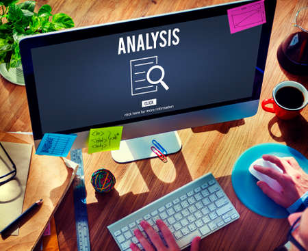 investigation: Analysis Results Discovery Investigation Concept Stock Photo