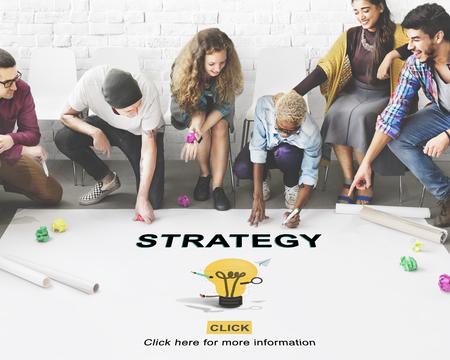 Oplossing Strategie Gloeilamp Graphics Concept