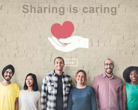 opinion: Sharing Caring Share Opinion Social Networking Concept