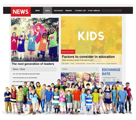 article: Kids News Feed Article Advertisement Concept