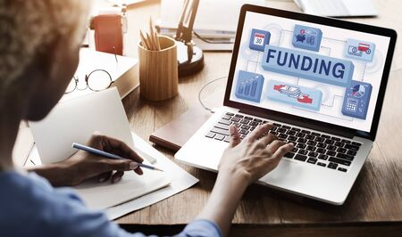 Funding Finance Management Graphics Concept Stock Photo