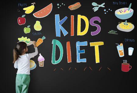 childrens food: Kids Menu Food Recipes Cuisine Concept