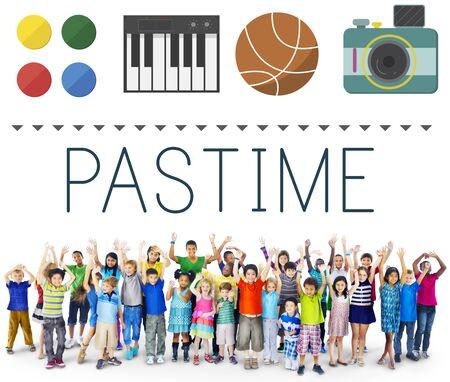 pastimes: Pastime Pleasure Passion Activity Hobbies Interest Concept
