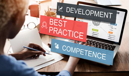competence: Development Practice Competence Skilled Talent Concept Stock Photo