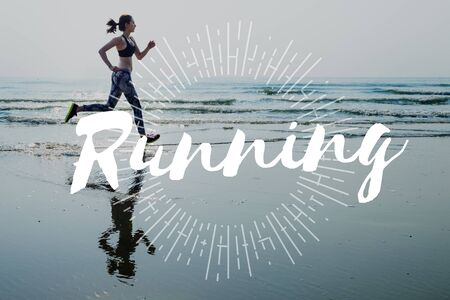 get a workout: Run Hurry Activity Rush Speed Sprint Exercise Fit Concept