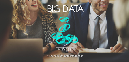 Business people with big data concept